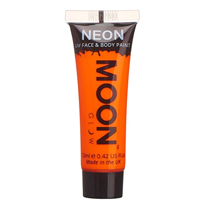 Pintura fluorescente corporal y facial barata de color naranja neón