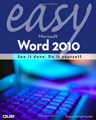 Easy Microsoft Word 2010