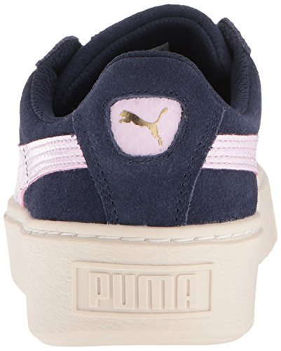 PUMA Unisex-Kids Suede Platform SNK Sneaker, Peacoat-Winsome Orchid Team Gold, 5 M US Big Kid by PUMA (Image #2)