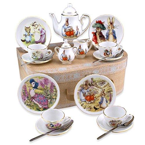 Beatrix Potter Tea Set Peter Rabbit & Friends By Reutter Por