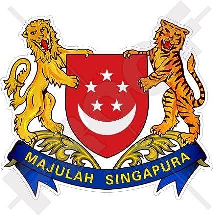 SGP Singapore Country Code Oval Bumper Sticker or Helmet Sticker D936