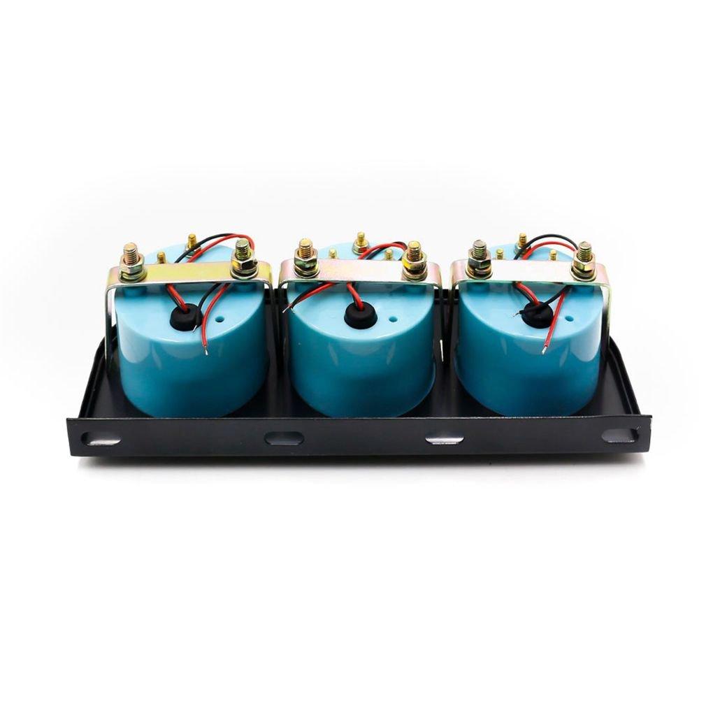 Ben-gi 52 mm Jauge Kit Eau Temp jauge de Pression dhuile Jauge Voltage M/ètres capteur Triple Kit de Voiture 3 en 1 m/ètre de Voiture