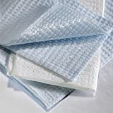 Graham Medical 184 2-Ply Tissue/Poly Towel, 13.5'' Width, 18'' Length, Blue (Pack of 500)