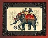 Circus elephant wall decor, animal artwork decorations