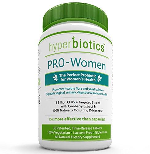 PRO-femmes, les probiotiques pour les femmes ayant Cranberry Extract et 100% d'origine naturelle D-mannose: 30 fois la durée journalière de comprimés à libération - Aide à l'infection à levures, Candida et Infection des voies urinaires - 15x plus efficace