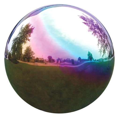 VCS RNB12 Mirror Ball 12-Inch Rainbow Stainless Steel Gazing Globe