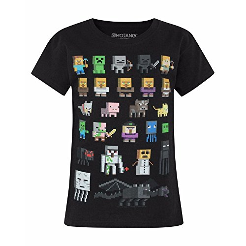 Official Minecraft Sprites Girl's T-Shirt (9-10 Years) -
