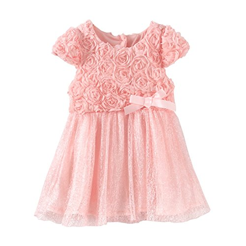 Mud Kingdom Toddler Girl Dresses Boutique Pink Flower 3T