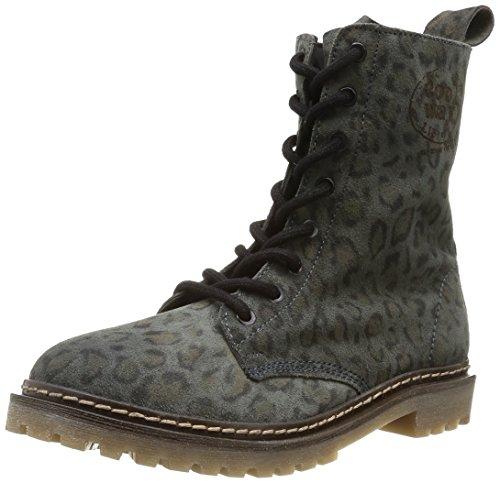Coolway Women's Moonsun Combat Boot - Grey Leopard - 7.5 ...