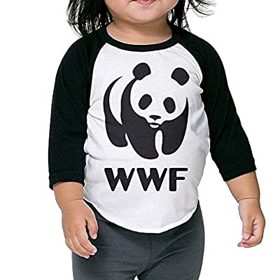 LOVEGIFTTO KID Child/Infant Wildlife Fund Wwf O-Neck 3/4 Sleeve Raglan Tee Shirt