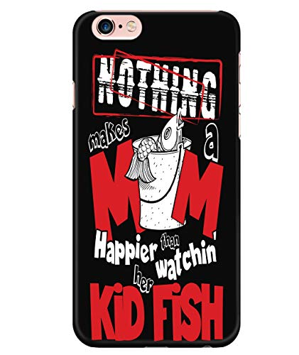 iPhone 6 Plus/6s Plus Case, Makes A Mom Happies Case for Apple iPhone 6 Plus/6s Plus, Whatching Her Kid Fish iPhone Case (iPhone 6 Plus/6s Plus Case - Black) ()