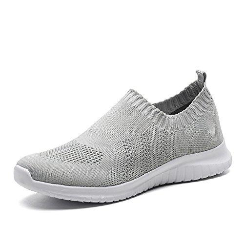 TIOSEBON HK2133 - Zapatillas de Nordic Walking para Mujer 2132 Light Grey