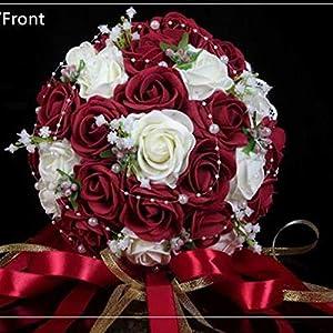 Balalei Wedding Bouquet Pink/Red/White/Bridal Bridesmaid Flower Artificial Flower Rose Bouquet Bride,01 11
