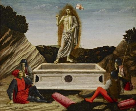 'Francesco Botticini - The Resurrection, C. 1465-70' Oil Painting, 24x29 Inch / 61x75 Cm ,printed On Perfect Effect Canvas ,this Amazing Art Decorative Prints On Canvas Is Perfectly Suitalbe For Garage Decor And Home Gallery Art And Gifts