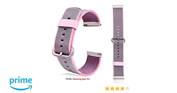 Gear S3 Frontier/Classic Nylon Band, Rukoy Fine Woven Nylon Adjustable Replacement Band Sport Strap for Samsung Gear S3 Frontier/Classic Smartwatch