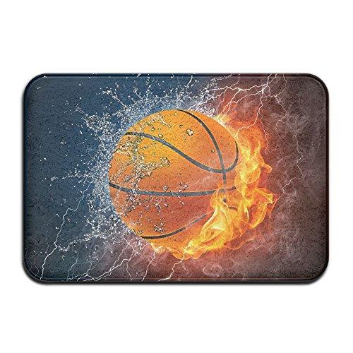 Home Door Mat Basketball With Fire And Water Doormat Door Mats Entrance Rugs Anti Slip 4060 For Indoor Outdoor
