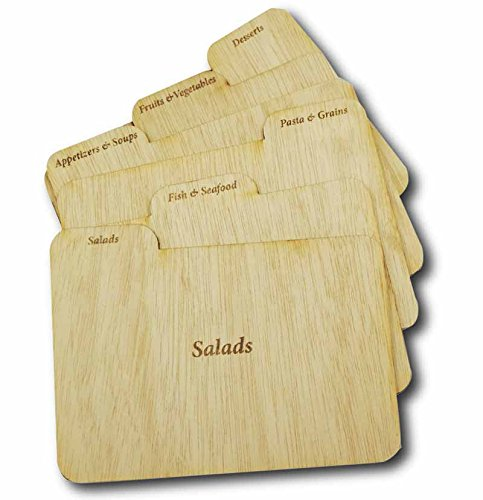 Cookbook People Wood Recipe Card Dividers 4x6 with Tabs (4x6 Wood Recipe Box compare prices)