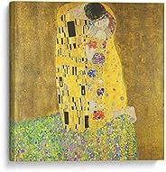 Cuadro decorativo de canvas (lienzo), El beso - Gustav Klimt - Arte famoso & Colorido, montado en bastidor