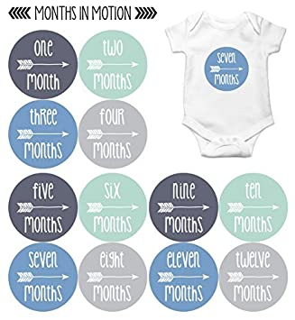 amazon months in motion baby month stickers monthly baby