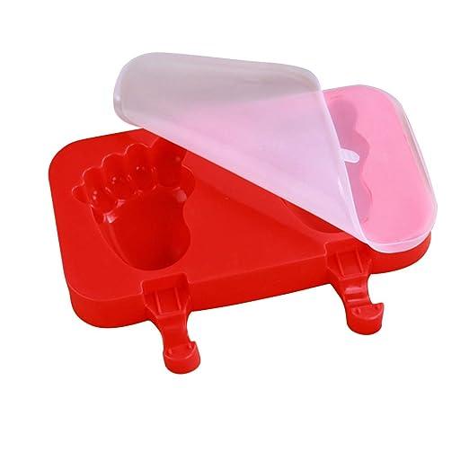 Moldes con formas Molde para helados de silicona con tapa 3 ...