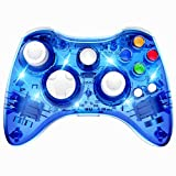 Wireless Xbox 360 Controller Double Motor Vibration Wireless Gamepad Gaming Joypad, Blue - PAWHITS