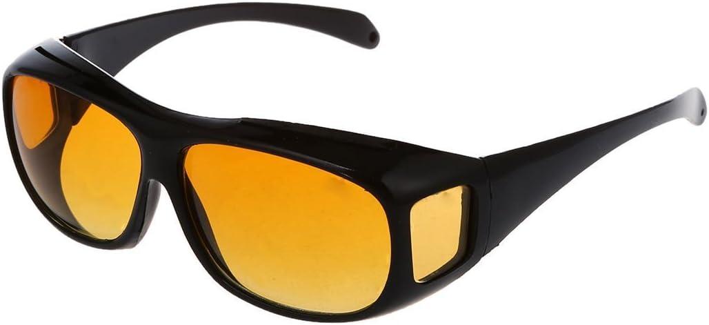 Sodial R Auto Kfz Brille Sonnenbrille Nachtfahrbrille Nachtsichtbrille Kontrastbrille Ideal Gegen Blendendes Licht Bei Nachtfahrten Sport Freizeit