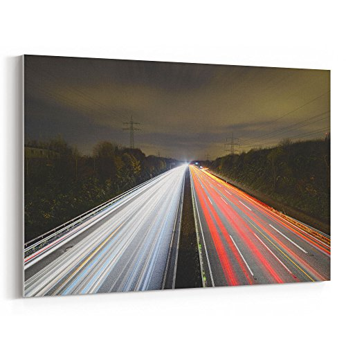 Westlake Art - Asphalt Auto - 5x7 Canvas Print Wall Art - Canvas Stretched Gallery Wrap Modern Picture Photography Artwork - Ready to Hang 5x7 Inch ()
