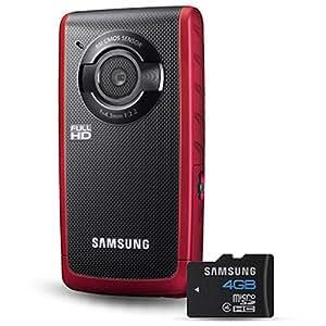 Samsung W190 5.5MP HD Pocket Camcorder Red
