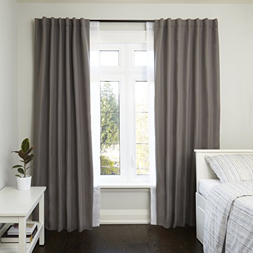 Umbra Twilight Double Curtain Rod Set - Wrap Around Design is Ideal for Blackout or Room Darkening Panels, 88 to 144-Inch, Auburn Bronze