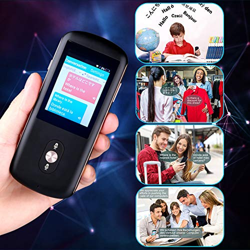 Smart Voice Language Translator Device,Real-time Two-Way Foreign Speech/Text WiFi&4G 2.4 inch IPS Touch Screen Support 38 Languages for Learning Travel Business Shopping English Spanish Etc(Black) by Da Xian (Image #6)