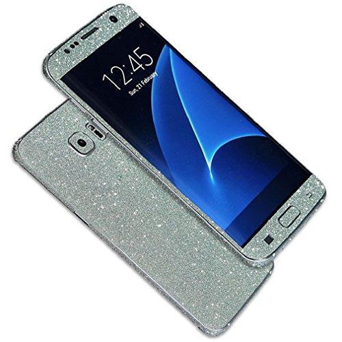 Tonsee Luxus Bling Glitter zurück Film Tasche Schutzhülle Case für Samsung Galaxy S7 edge (grün)