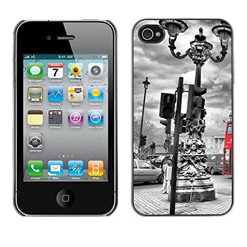 Premio Sottile Slim Cassa Custodia Case Cover Shell // V00002682 london Bus en // Apple iPhone 4 4S 4G