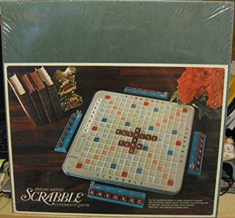SCRABBLE - Deluxe Turntable Edition w/ Hardwood Tiles (1972) by Selchow & Righter: Amazon.es: Juguetes y juegos