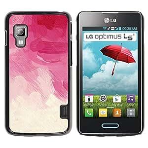 Paccase / SLIM PC / Aliminium Casa Carcasa Funda Case Cover - White Beige Pastel Rose Spring Clouds - LG Optimus L5 II Dual E455 E460