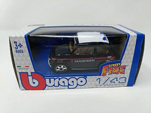 Bburago Modellino Auto Scala 1:43 Street Fire Fiat 500 Classica Carabinieri