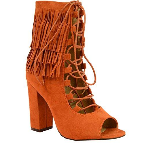 Cucu Fashion - Zapatos de tacón mujer Marrón - canela