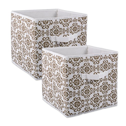 Bins Brown (DII Fabric Storage Bins for Nursery, Offices, & Home Organization, Containers Are Made To Fit Standard Cube Organizers (11x11x11