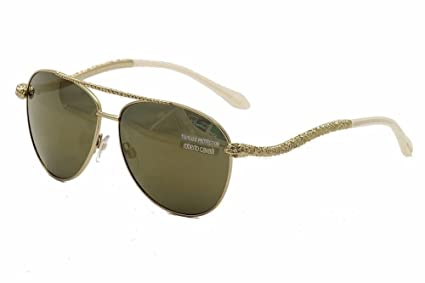 9026d3d86637 Amazon.com  Roberto Cavalli Women s RC899S Sunglasses GOLD 59 ...