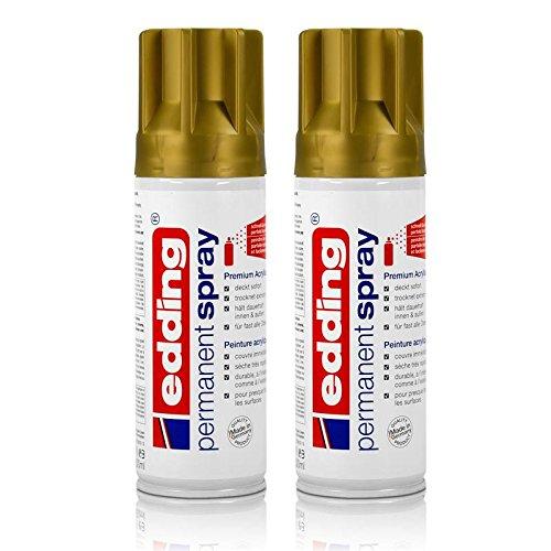 2x edding Permanent Spray reichgold 200 ml Premium Acryllack