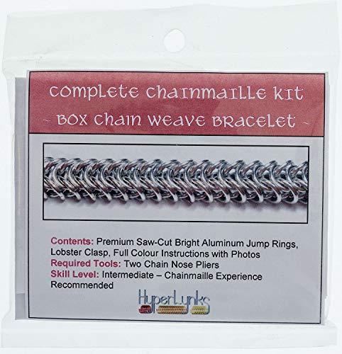 (Chainmaille, Kit, Intermediate - Box Chain Bracelet )
