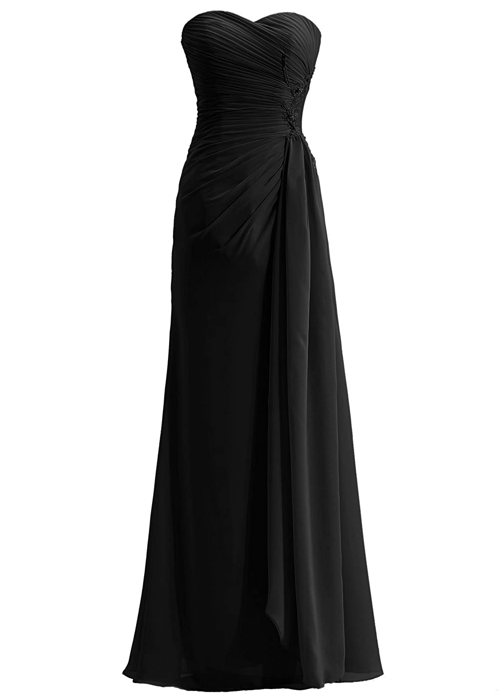 3a59d372589b Callmelady Sweetheart Chiffon Prom Dresses Long Evening Gowns for Women  Formal: Amazon.co.uk: Clothing