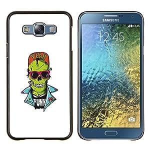 """Be-Star Único Patrón Plástico Duro Fundas Cover Cubre Hard Case Cover Para Samsung Galaxy E7 / SM-E700 ( Cráneo punky del zombi"""" )"""
