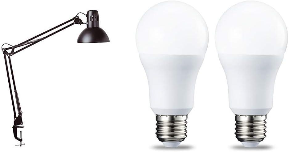 Energieeffizienzklasse A Standfuß und Tischklemme Schreibtischleuchte black m