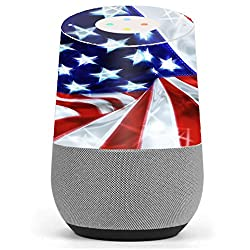 Skin Decal Vinyl Wrap for Google Home stickers skins cover/ Electric American Flag U.S.A.
