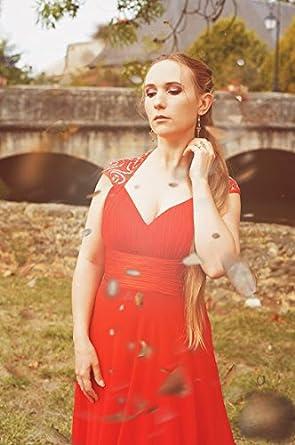 Vestido para mujer, de Ever-Pretty Rojo Bermellón 46: Amazon.es: Ropa y accesorios