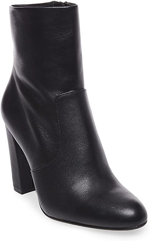 ba3933a5571 Amazon.com | Steve Madden Women's Editor Ankle Boot, Black Leather ...