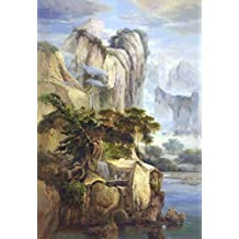 Perfect effect Canvas ,the High Definition Art Decorative Canvas Prints of oil painting 'Decorative Landscape Painting of the Fairyland', 20x29 inch / 51x74 cm is best for Home Office decoration and Home decor and Gifts