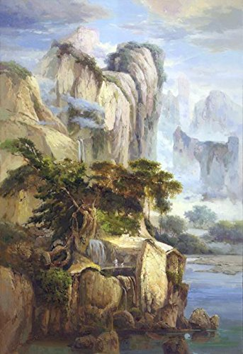 [Perfect Effect Canvas ,the Amazing Art Decorative Prints On Canvas Of Oil Painting 'Decorative Landscape Painting Of The Fairyland', 18x26 Inch / 46x67 Cm Is Best For Hallway Artwork And Home Artwork And] (Borderlands 2 Costumes For Sale)