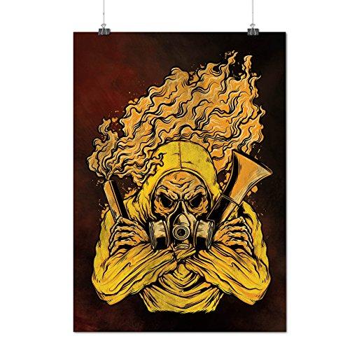 Gass Poison Mask Horror Matte/Glossy Poster A2 (60cm x 42cm) | Wellcoda
