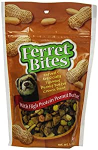 8 in1 Ferret Bites Treats, Peanut Butter Crunch, 5-Ounce (H430)